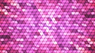 Broadcast Twinkling Cubic Hi-Tech Triangles, Pink, Abstract, Loopable, 4K Stock Footage