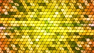 Broadcast Twinkling Cubic Hi-Tech Triangles, Green, Abstract, Loopable, 4K Stock Footage