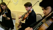 Performance of the young violinists. Stock Footage