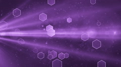 Abstract Honeycomb background violet Stock Footage