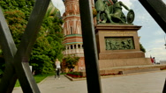 Minin and Pojarsky monument Moscow Russia Stock Footage