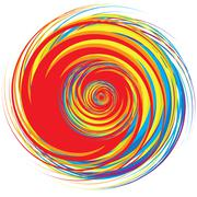 Colorful Abstract Psychedelic Art Background. Vector Illustratio Stock Illustration
