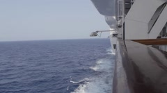 Port side of Ship on Ocean Stock Footage