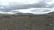 A Rocky Plain in Cotopaxi National Park Stock Footage