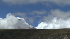 Clouds Pass in Front of Cotopaxi Stock Footage