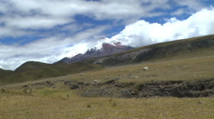 Cotopaxi Behind the Clouds Stock Footage