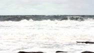 Slow motion shot of amazing ocean waves on shore Stock Footage