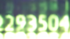 From computer screen letter and number code sequence Stock Footage