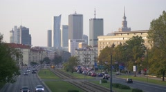 Panorama of Warsaw. Skyscrapers on the horizon. Stock Footage