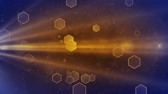 Abstract Honeycomb background Blue-yellow Stock Footage