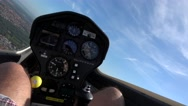Cockpit point of view POV footage in glider sailplane soaring in rising air 4k Stock Footage