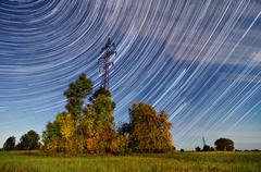 Time lapse Startrails Stock Photos