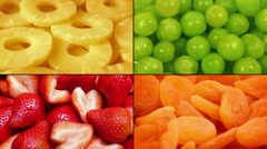 Delicious Fruit Rotating Montage Stock Footage