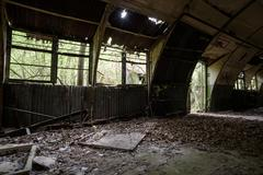 Interior of an old Airbase used by American air force at RAF Rivenhall in Ess Stock Photos