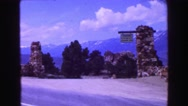 1968: a mountain area is seen traveling by road VANCOUVER, CANADA Stock Footage