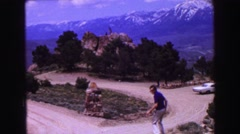 1968: a mountain scenery is seen with lush greenery VANCOUVER, CANADA Stock Footage