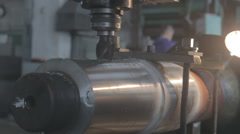 Work for the lathe factory Stock Footage