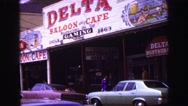 1968: a cafe is seen VANCOUVER, CANADA Stock Footage