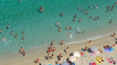 Tropea, Italy- Typical crowded italian beach during the summer Stock Footage