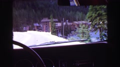 1968: a snow covered road is seen VANCOUVER, CANADA Stock Footage