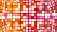 Broadcast Twinkling Hi-Tech Cubes Room, Multi Color, Abstract, Loopable, 4K Stock Footage