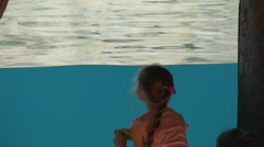 Small Group of Children Walks in an Aquapark Stock Footage