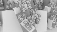 Boxes abstarct fractal 4k backgraund Stock Footage