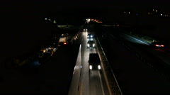 Construction site and traffic on German highway - high-angle view Stock Footage