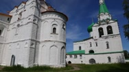 Famous Holy Trinity Alexander Svirsky male monastery in Russia Stock Footage
