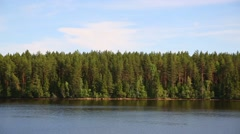 Landscape banks Svir river in northern Russia Stock Footage