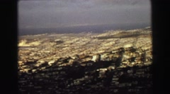 1968: overhead view of a massive metropolitan area that appears  Stock Footage