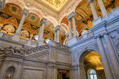 Interior of the Library of Congress in Washington D.C. Kuvituskuvat