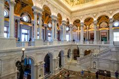 Interior of the Library of Congress in Washington D.C. Stock Photos