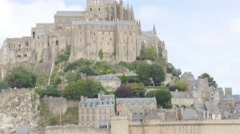 Fortified Mont Saint Michel located in France Normandy 4K Stock Footage