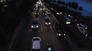 Rush hour night vehicle traffic. aerial Stock Footage