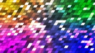 Broadcast Twinkling Slant Hi-Tech Squares, Multi Color, Abstract, Loopable, 4K Stock Footage