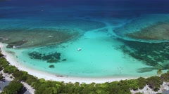 Aerial view of Lindquist beach, St Thomas Stock Footage