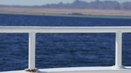 Fragment of white yacht Stock Footage