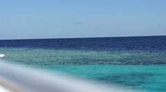 View of calm cerulean sea Stock Footage