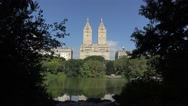 View across the Lake in Central Park (4K), Manhattan, New York, United States. Stock Footage