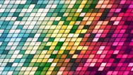 Broadcast Twinkling Slant Hi-Tech Cubes, Multi Color, Abstract, Loopable, 4K Stock Footage