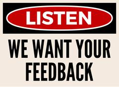 We want your feedback attention board Piirros