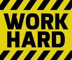 Work Hard sign Stock Illustration