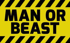 Man or beast sign Stock Illustration