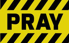 Pray sign Stock Illustration