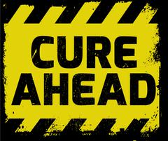 Cure Ahead sign Stock Illustration