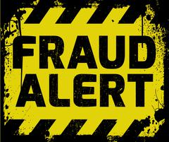 Fraud Alert sign Stock Illustration