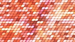 Broadcast Twinkling Slant Hi-Tech Cubes, Orange, Abstract, Loopable, 4K Stock Footage