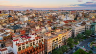 Aerial view of Valencia, Spain. Time-lapse Stock Footage