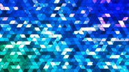 Broadcast Twinkling Squared Hi-Tech Triangles, Blue, Abstract, Loopable, 4K Stock Footage